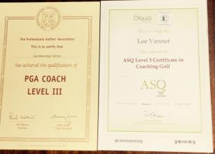 PGA Level 3 UKCC Level 3 Golf Coach