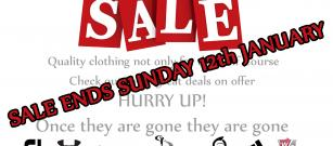 Winter Sale Ends Sunday 12th January