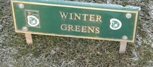 Winter Greens and Partial Course Closed