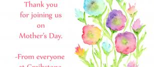 Thank you for joining us on Mother's Day