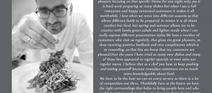 Meet our staff - head chef Tomasz
