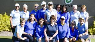 Ladies friendly game of greensomes.