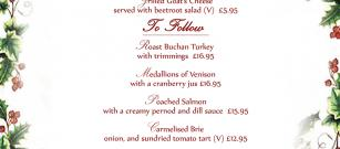 We are so excited to share with you our fantastic new and seasonal Christmas menu...