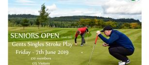 Seniors Strokeplay Open - Friday 7th June