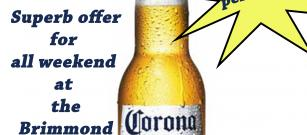 Perfect weather for cold Corona beer