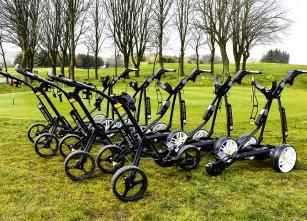 Brand new GPS Powakaddy electric trolley's