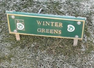 Winter Greens Sign