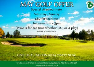 May Golf Offer